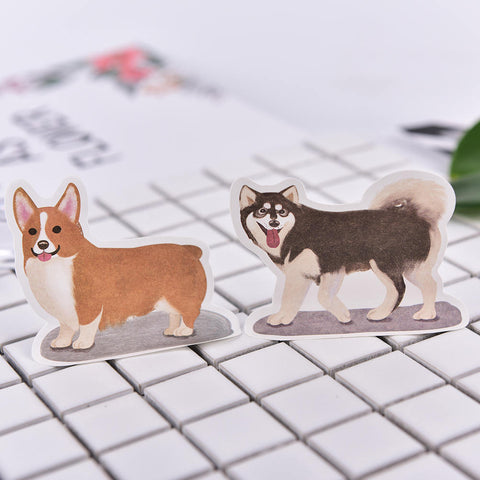 Corgi, Pug, Husky and French Bulldog Sticky Notes