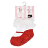 Mary Jane Sparkle Socks Red