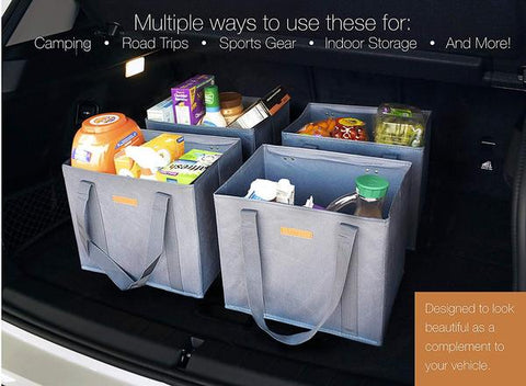 Reusable WASHABLE Grocery Shopping Cart Trolley Bags IMAGE