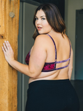Plus Size Velvet Strappy Bralette - Comes in Black & Burgundy - A Peace of Mind Jewelry & Boutique