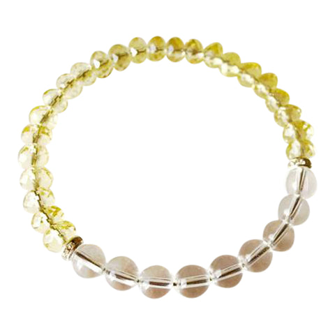 Clarity & Intention - Citrine & Crystal Quartz Sterling Silver Bracelet