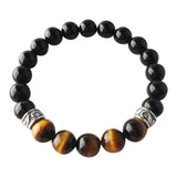 Complete Focus - Tiger's Eye & Black Onyx Sterling Silver Bracelet