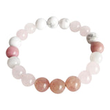 Fertility Mix - Moonstone, Muscovite, Rhodonite, Rose Quartz & White Howlite Bracelet