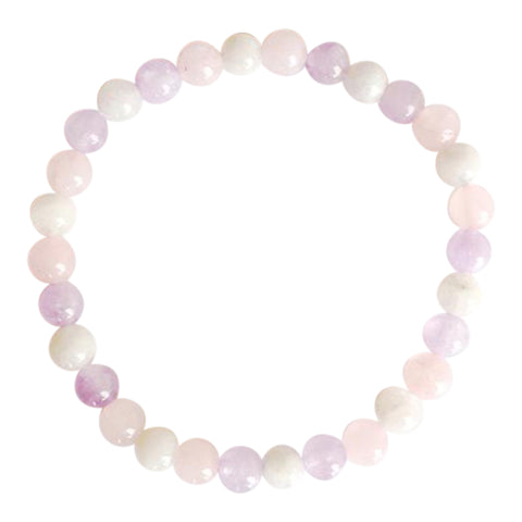 Guan Yin Inspired - Cape Amethyst, Rose Quartz & Moonstone Bracelet