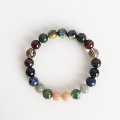 Protection Mix ~ Genuine Gemstone Mix Bracelet - A Peace of Mind Jewelry & Boutique