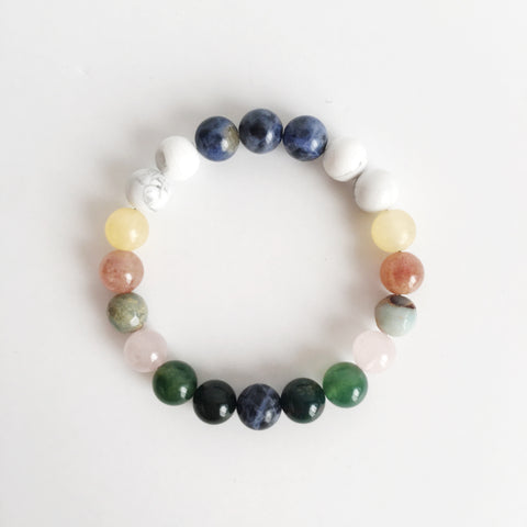 Courage & Confidence Mix ~ Genuine Gemstone Mix Bracelet - A Peace of Mind Jewelry & Boutique