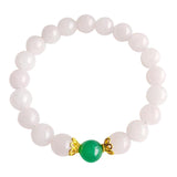 I Attract Love & Prosperity - Aventurine & Rose Quartz Vermeil Bracelet
