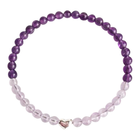 I Trust My Intuition - Amethyst and Cape Amethyst Sterling Silver Bracelet