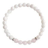 Love & Positivity ~ Rose Quartz & Moonstone Sterling Silver Bracelet