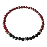 Power & Grounding - Garnet & Black Onyx Sterling Silver Bracelet