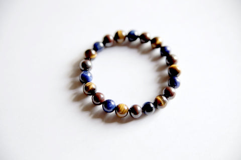 Strength & Confidence Bracelet ~ Blue Tiger Eye, Red Tiger Eye & Tiger Eye - A Peace of Mind Jewelry & Boutique