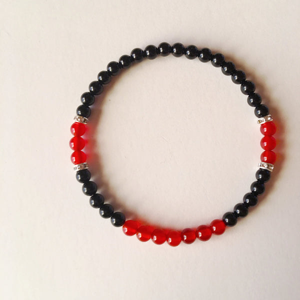 Energy & Grounding Bracelet ~ Carnelian & Black Onyx - A Peace of Mind Jewelry & Boutique