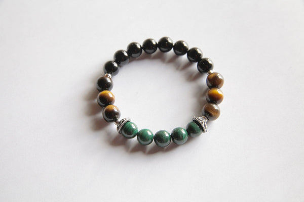 Focus - Genuine Black Onyx, Malachite & Tiger's Eye Stones w/ Sterling Silver Accents - A Peace of Mind Jewelry & Boutique