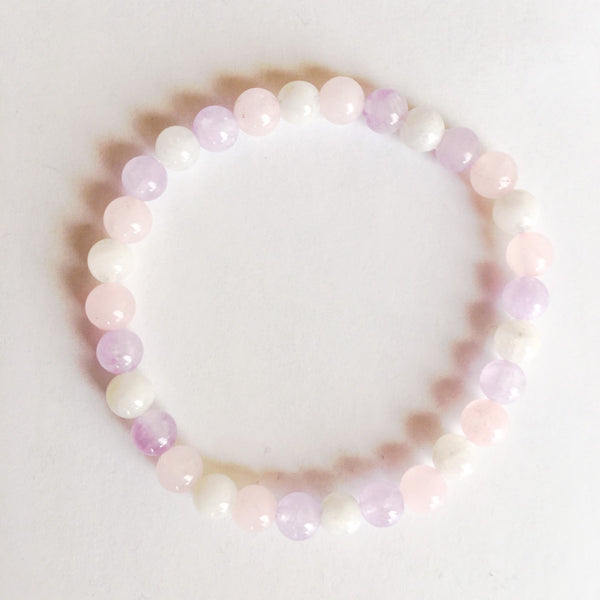 Guan Yin Collection ~ Genuine Cape Amethyst, Rose Quartz & Moonstone - A Peace of Mind Jewelry & Boutique