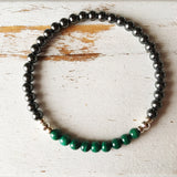 Healing Arthritis Bracelet - Hematite & Malachite Bracelet - A Peace of Mind Jewelry & Boutique