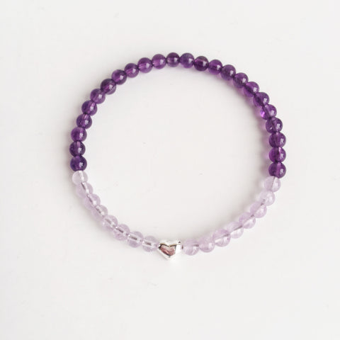 I Trust My Intuition. My Intuition is Always on My Side. Amethyst and Cape Amethyst Bracelet