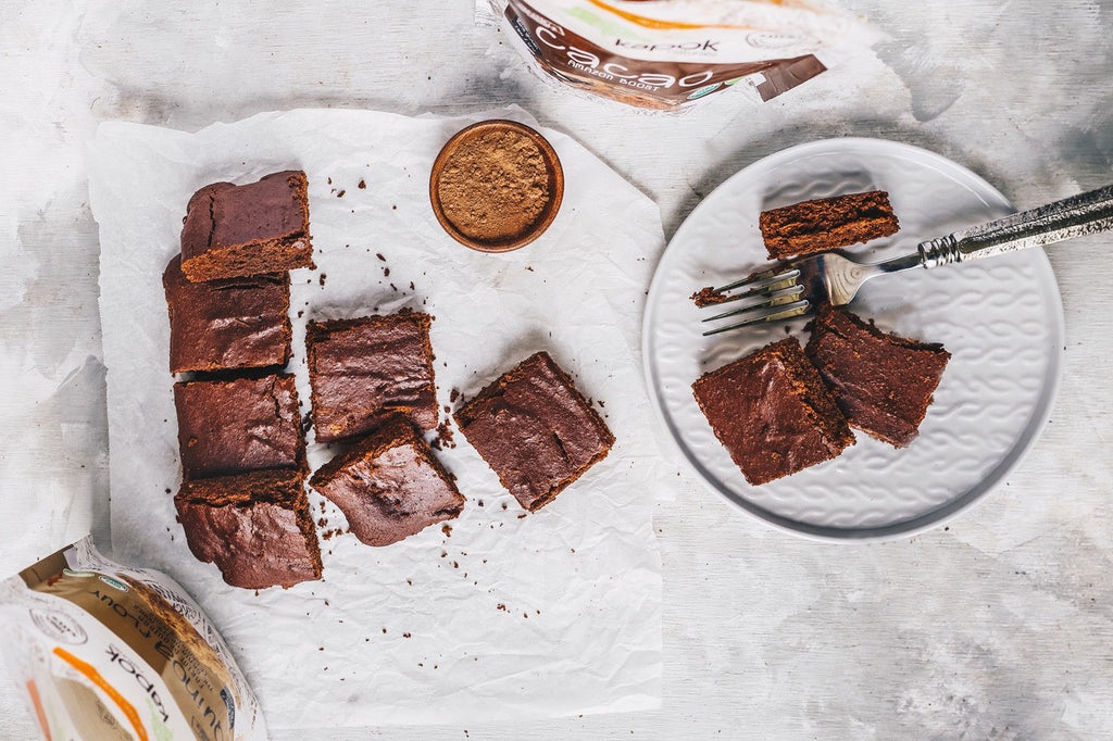 Cacao powder vegan brownies
