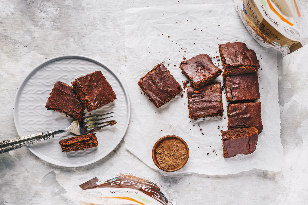 Vegan brownies with Quinoa Flour Gluten free Recipe