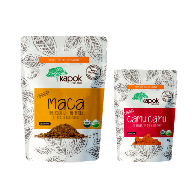 Maca/Camu Camu Powder Immune Boost Smoothie Bundle