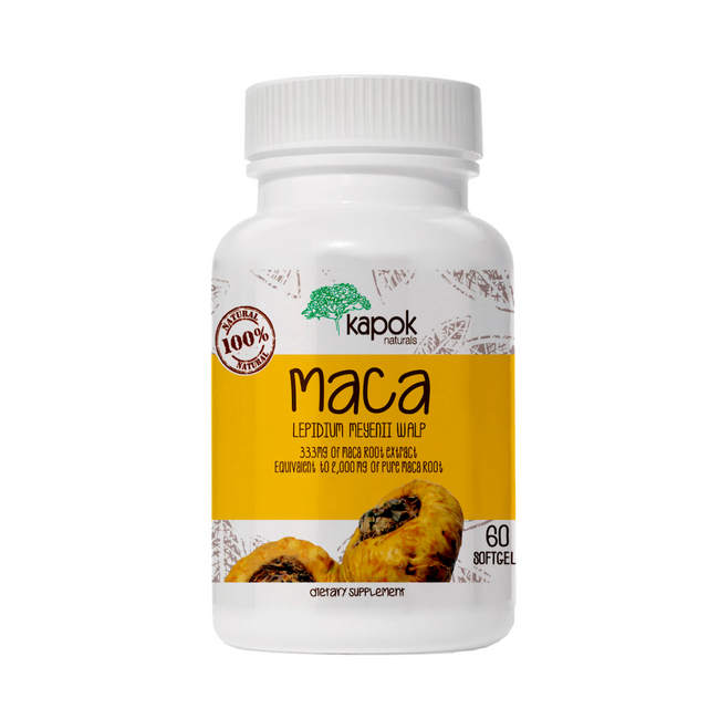 Maca Soft Gel Capsules 333mg - 60 ct
