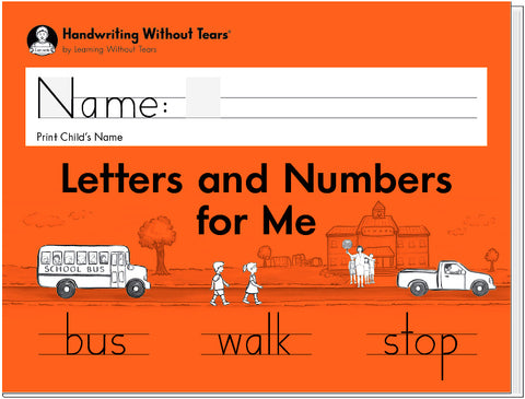 HWT - Kindergarten - Letters and Numbers for Me