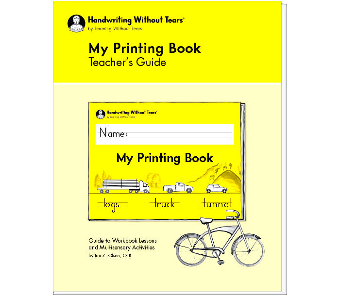 HWT 1st Grade My Printing Book Teacher's Guide