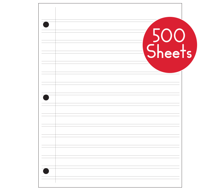 HWT Narrow Double Line Notebook Paper