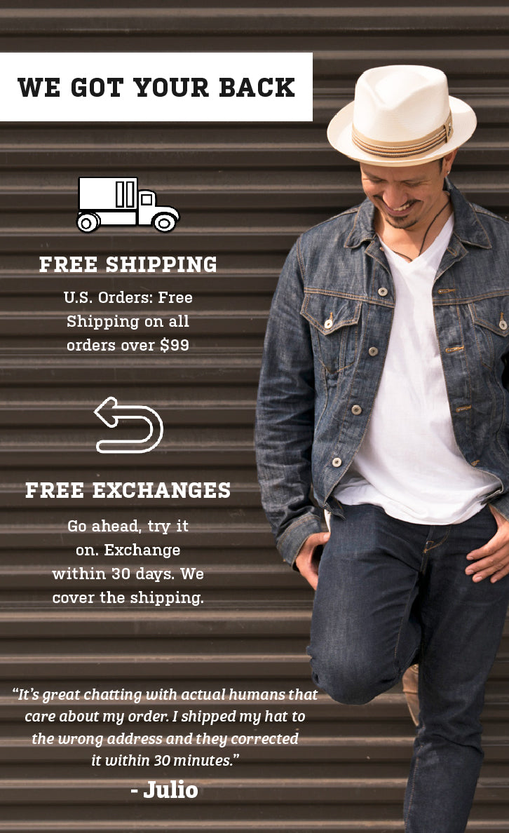 free shipping and exchanges notice