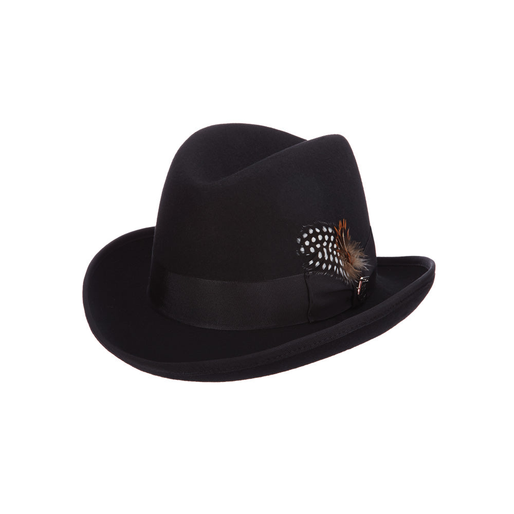 Stacy Adams Wool Felt Homburg- Harvey – Tenth Street Hats 428da6b4e08