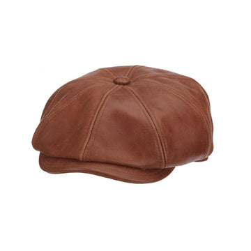fe0d359df89 Mens Flat Cap Hats. 40 results. Stetson Leather Newsboy- Harper