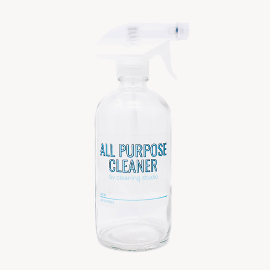 Glass Spray Bottle for All Purpose Cleaner (16oz) - Bottle Only