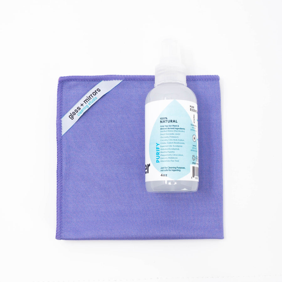 Mini Glass Cleaning Kit (4oz) | Portable Glass Cleaning Kit | Cleaning Studio