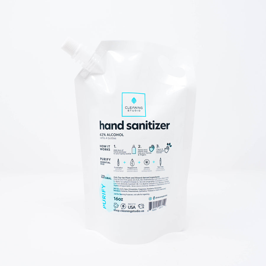 Hand Sanitizer Refill Bag - Purify Blend | Cleaning Studio