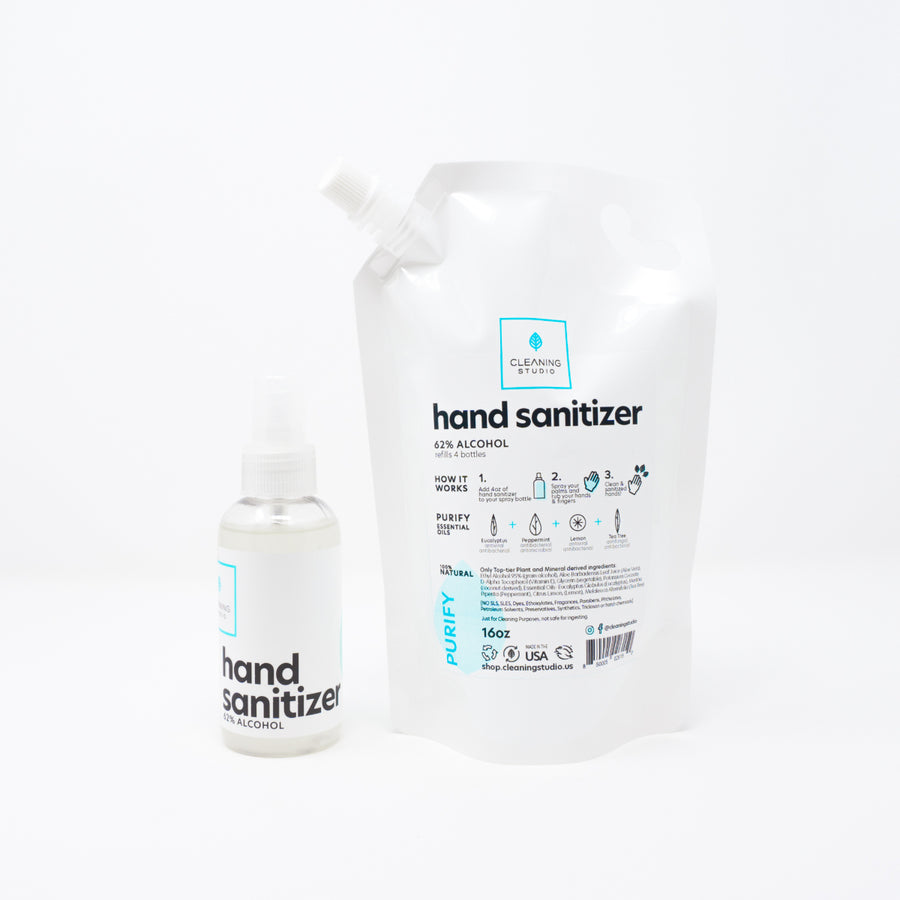 Hand Sanitizer Spray + Refill Bag - Purify Blend Pack