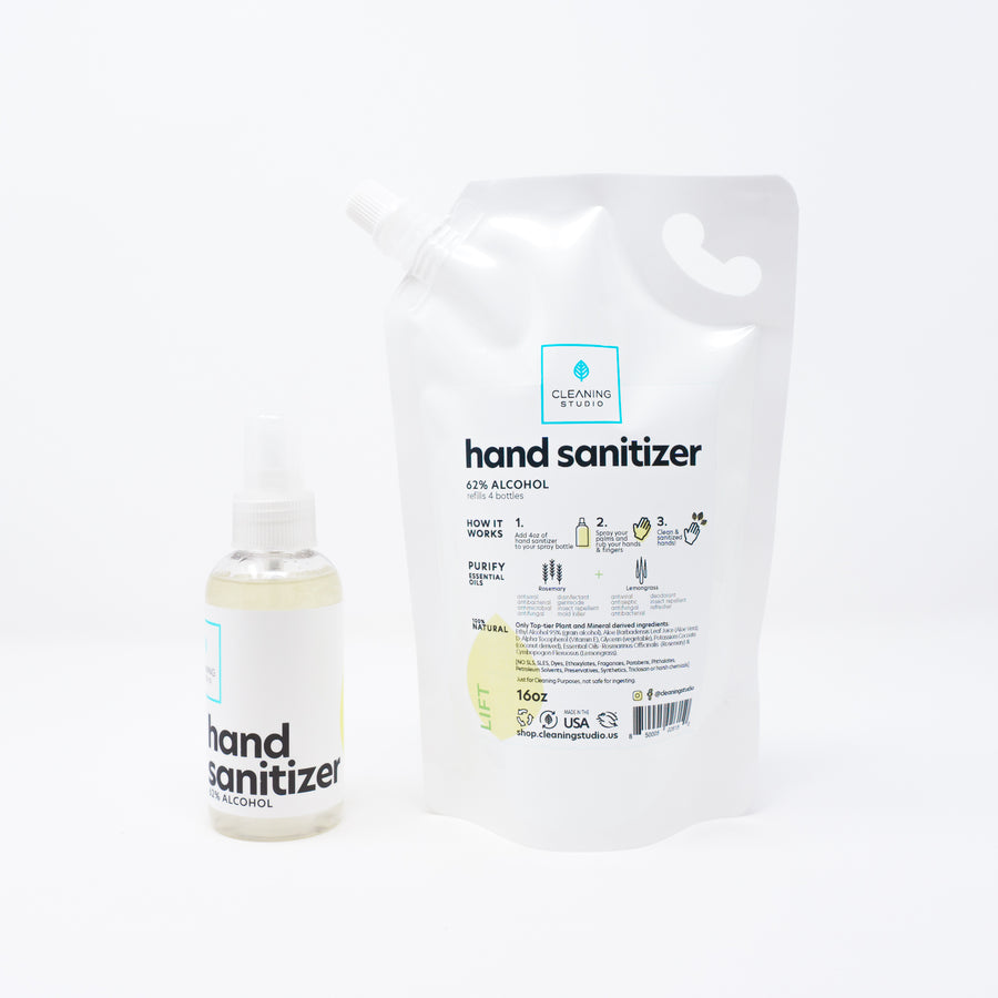 Hand Sanitizer Spray + Refill Bag - Lift Blend Pack | Cleaning Studio