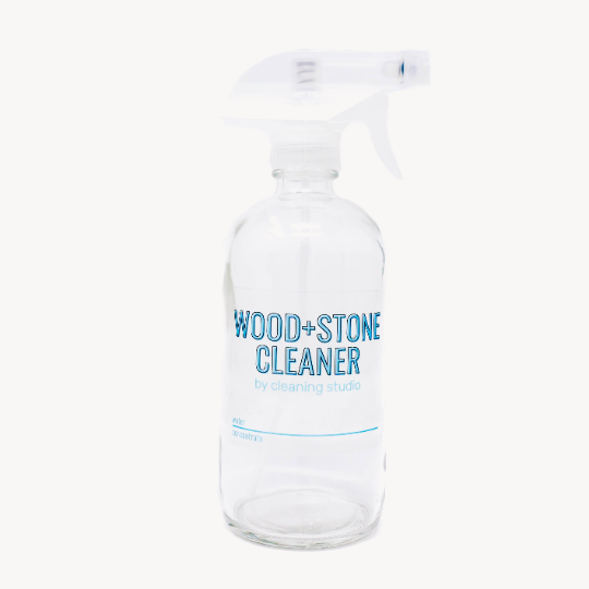 Wood + Stone Cleaner Glass Spray Bottle (16oz)