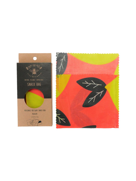 Pocket Full Of Lemons - Medium Snack Bag (Organic Cotton)