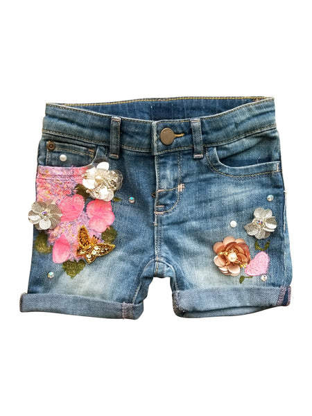 PENNY PAINTED DENIM SHORTS (18M)