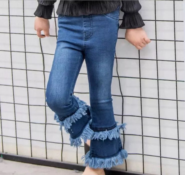 FERN FRAYED FLARES