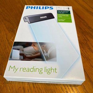Philips Rechargeable LED Reading Book Light - LAC7IAWGC/10