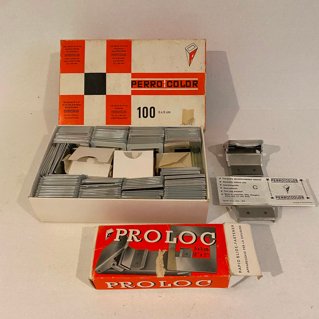 Perro Color 5x5 Slide Binders 100 (Used, Open Box) and ProLoc Slide Fastener