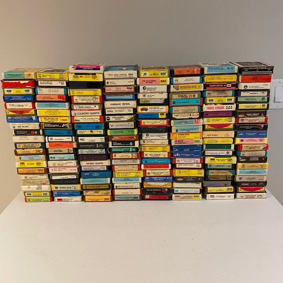 Mixed Lot of 160 8-Track Tapes