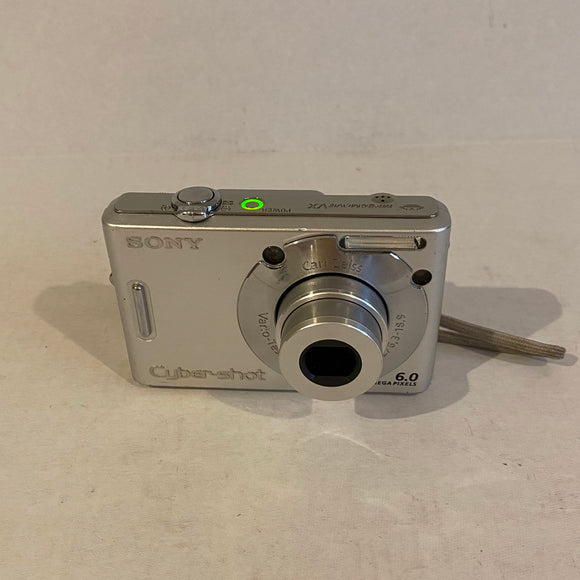 Silver Sony Cyber-shot 6 MP Digital Camera - DSC-W30