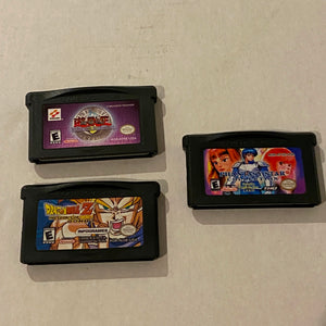 Lot of 3 Nintendo Game Boy Advance Games - Phantasy Star, Dragonball Z, Yu-Gi-Oh
