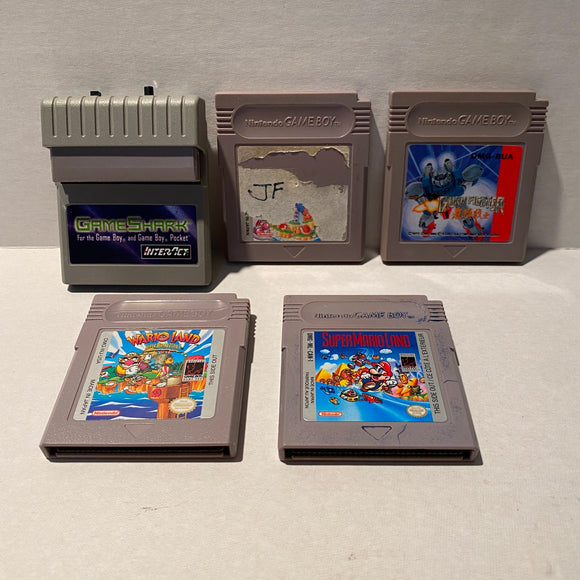 Lot of Nintendo Game Boy Games and GameShark