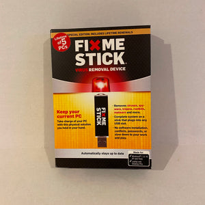 Special Edition FixMeStick Computer Virus Removal Device for 5 PC