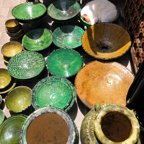Moroccan Green Pottery Tamegroute