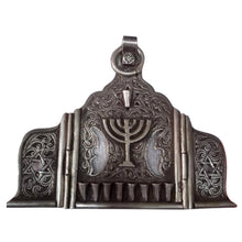 Load image into Gallery viewer, Antique Judaica - Silver Moroccan Jewish Menorah Lamp Home Decor