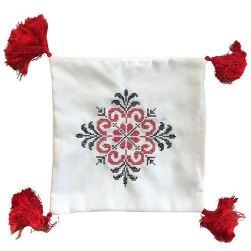 Berber Beldi Embroidered Cushion Cover - Eve Branson Foundation Collection Home Decor