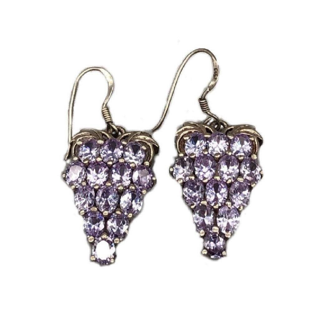 Bunch Of Grapes Moroccan Silver Earrings Earrings